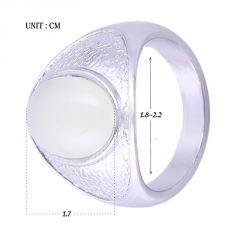 Fashionable Big Gem Stones Men Necessary ring size 11 white