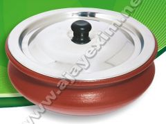 Clay Casserole Pot with SS Lid