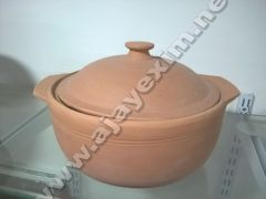 Indian Clay Cookware with lid