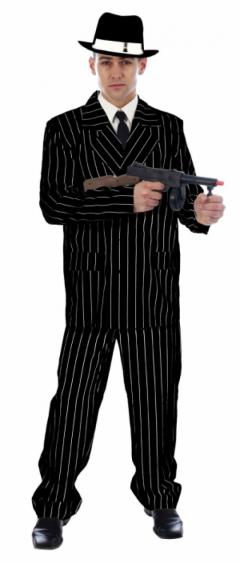 Adult Gangster Black Costume