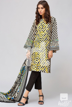 Pure Silk Shawl with Printed Karandi Shirt Dyed Karandi