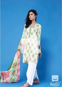 Printed Linen Dupatta with Printed Linen Shirt