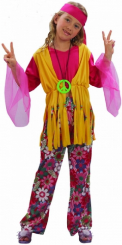 Hippie Girl Children Costume
