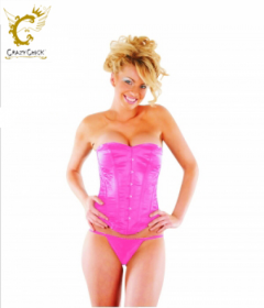 Crazy Chick Pink Full Burst Corset