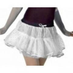 Crazy Chick Sexy 4 Layer Sequin TuTu White  Momofashio