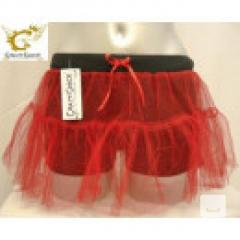LADIES CHRISTMAS RED 14 2 LAYER TUTU SKIRT  Momofashi