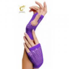 SEXY PURPLE FISHNET GLOVES FANCY DRESS  Momofashions