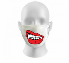 Plain Vampire Teeth Print Design Protective Face Mask