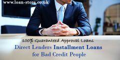 Installment Loans Bad Credit - Loan Store in UK