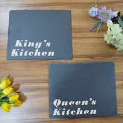 Kings & Queens Kitchen Slate Place Mats