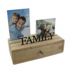 Family Photo Frames & Storage Drawer