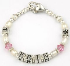 Personalised Baby And Christening Bracelet