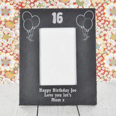 Personalised Birthday Slate 4 X 6 Photo Frame