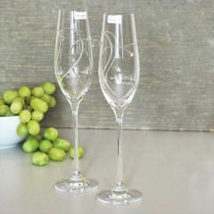 Royal Doulton Two Hearts Entwined Toasting Flutes