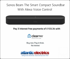 Sonos Beam Compact Soundbar with Alexa Voice Control