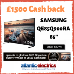 Cashback Offer On Samsung QE85Q900RAT 85In QLED 8K TV