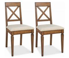 Bentley Designs Sophia Oak Dining Chair Pair