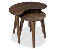 Bentley Designs Oslo Walnut Nest of Lamp Tables
