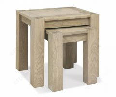 Bentley Designs Turin Aged Oak Nest of Lamp Tables