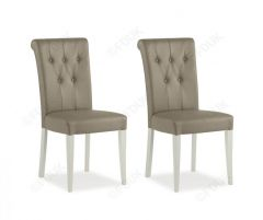 Bentley Designs Leather Dining Chair in Pair