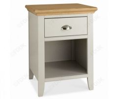 Bentley Designs Oak 1 Drawer Night Stand