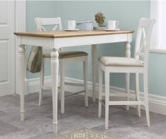 Bentley Designs Two Tone Bar Table With X Back S