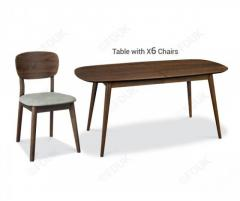 Bentley Designs Oslo Walnut 6-8 Extension Dining Table