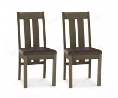 Bentley Designs Turin Dark Oak Slatted Dining Chair