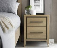 Bentley Designs Rimini Oak 2 Drawer Nightstand