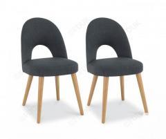 Bentley Designs Oslo Oak Steel Fabric Dining Chair