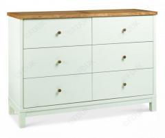 Bentley Designs Atlanta Two Tone 6 Drawer Wide Chest