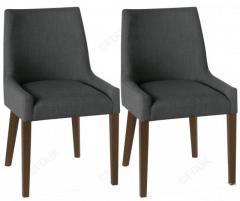Bentley Designs Ella Walnut Scoop Back Dining Chair
