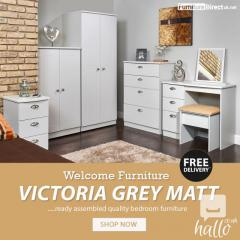 Welcome Victoria Grey Matt Bedroom Furniture Sale