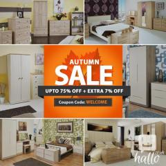 Flat 7 Off on Welcome Bedroom & Living Furniture