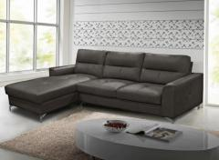 Vida Living Tanaro Grey Leather Corner Group Sofa