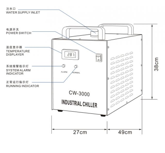 S&A CW-3000 water cooler for 80W CO2 laser tube 3 Image