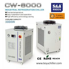 S&A CNC router chiller with water filter installed and