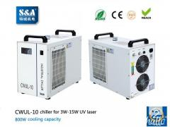 S&A air cooled water chiller CWUL-10 for 3W-15W UVlaser