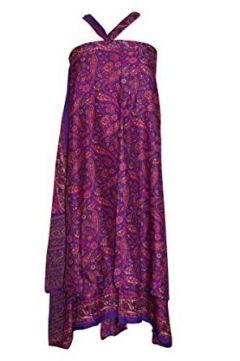Mogul Interior Ladies Wrap Skirt PurpleMagenta Paisle