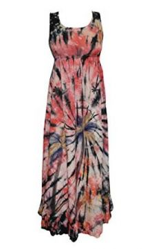 Maxi Dress Long Tie Dye Fashion Summer Casual Dresses