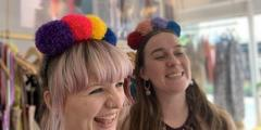 Lucy and Yak presents : PomPom headbands with hellowoollen!