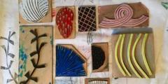 Printed Textiles 1 - Block and Mono Printing onto Fabric