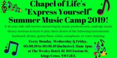 Chapel of Life Summer Music Camp 2019 - FREE