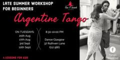 Tango Workshop for Beginners: 4 LESSONS PACK