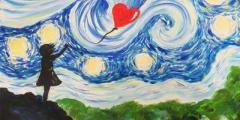 Paint Starry Night Street Art!