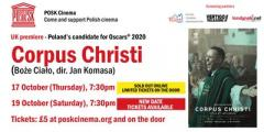 SECOND DATE  POSK Cinema #4: Corpus Christi - Poland's candidate for Oscars