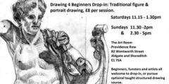 Drawing 4 Beginners Drop-in: traditional figure & portrait drawing