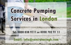 Concrete Pumping Services in London