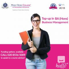 Benefits of Business Top up Degree in London