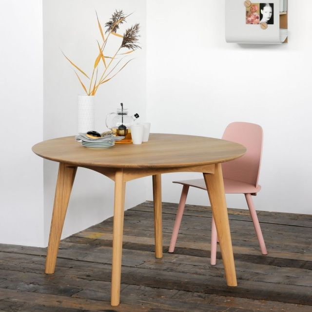 ethnicraft osso oak round dining table expiredleicester